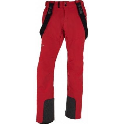 Pánské lyžařské softshellové kalhoty KILPI Rhea-m červená