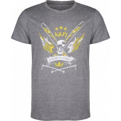 Pánské bavlněné tričko KILPI Skull-m tmavě šedá