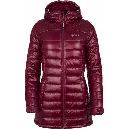 Dámský zimní kabát KILPI Sydney-w tmavě červená