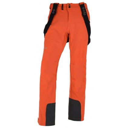 Pánské lyžařské softshellové kalhoty KILPI Rhea-m oranžová