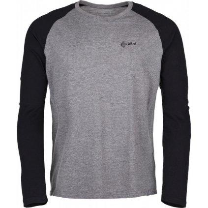 Pánské bavlněné tričko KILPI Longo-m tmavě šedá
