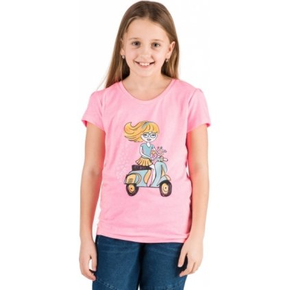 Dívčí triko SAM 73 s krátkým rukávem růžová