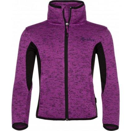 Dívčí fleecový svetr Rigana-jg fialová