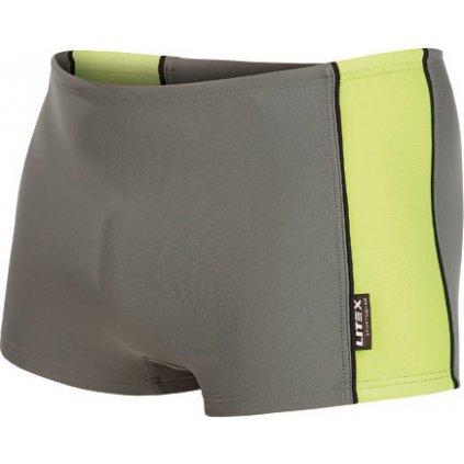 Pánské plavky boxerky LITEX šedá