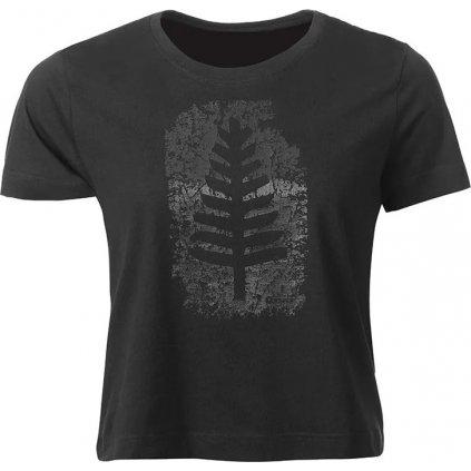 Dámské bavlněné triko O'STYLE Crop černé