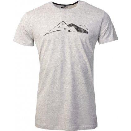 Pánské bavlněné triko O'STYLE Peak šedé