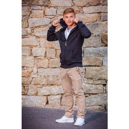 Pánské bavlněné kalhoty O'STYLE Mason béžové