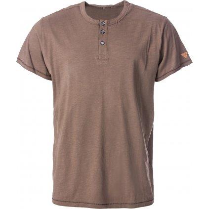 Pánské bavlněné triko O'STYLE Perry hnědé
