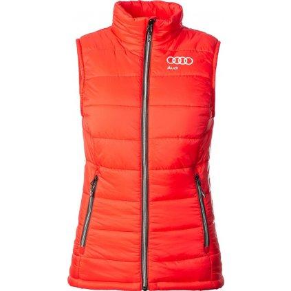 Dámská zateplená prošívaná vesta O'STYLE Audi Vest Woman červená