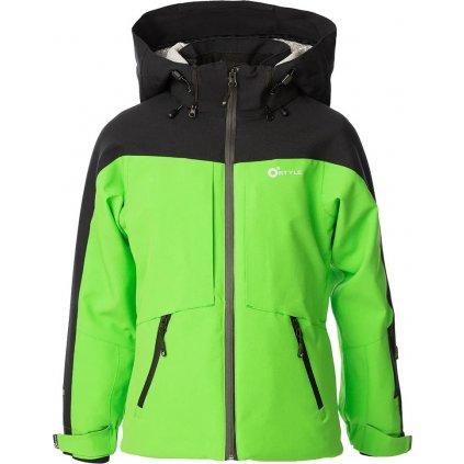 Juniorská lyžařská bunda O'STYLE Lautus II zelenočerná