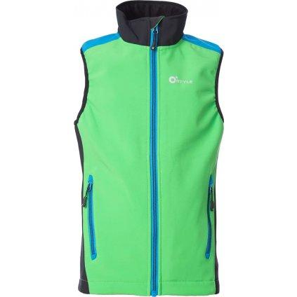 Juniorská softshellová vesta O'STYLE Ater III zelená