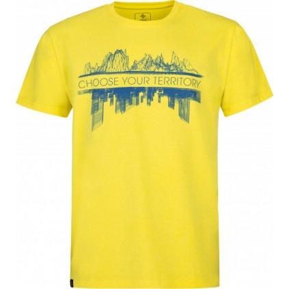 Pánské bavlněné triko KILPI Territory-m žlutá