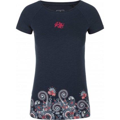 Dámské bavlněné triko KILPI Mint-w tmavě modrá