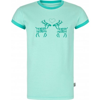 Dívčí bavlněné triko KILPI Avio-jg tyrkysová