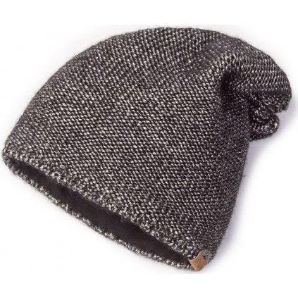 Pletená čepice O'STYLE Annie černostříbrná