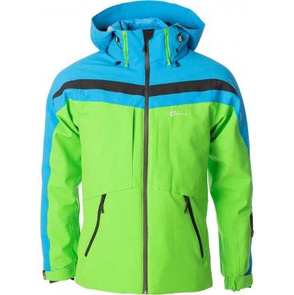 Lyžařská bunda O'STYLE Cosmo II zelenomodrá