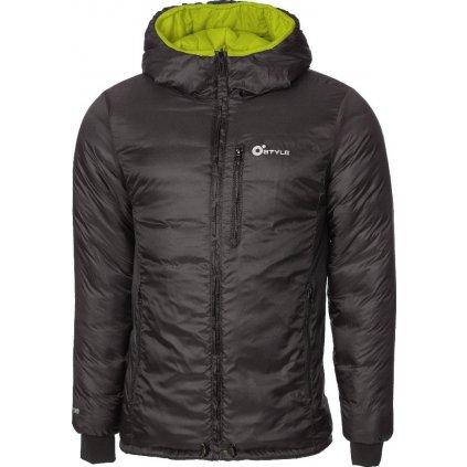 Pánská oboustranná bunda O'STYLE Glen khaki/černá