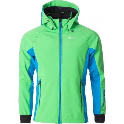 Pánská softshellová bunda O'STYLE Agilis II zelenomodrá