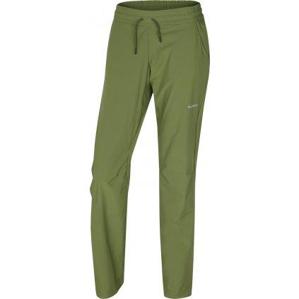 Dámské softshellové kalhoty HUSKY Speedy Long L tm.zelená