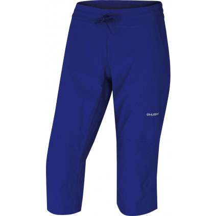 Dámské softshellové 3/4 kalhoty HUSKY Speedy L tm. modrofialová