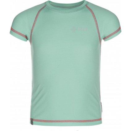 Dívčí funkční triko KILPI Tecni-jg tyrkysová