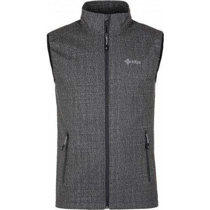 Pánská softshellová vesta KILPI Tofana-m melange/žíhaná