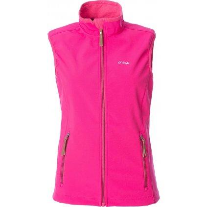 Dámská softshellová vesta O'STYLE Ava růžová