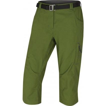 Dámské 3/4 kalhoty HUSKY Klery L tm. zelená