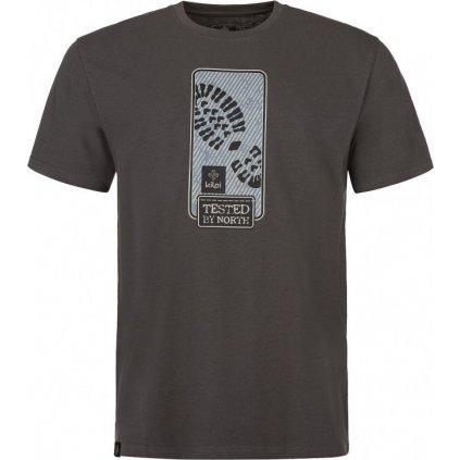 Pánské bavlněné tričko KILPI Booty-m tmavě šedá