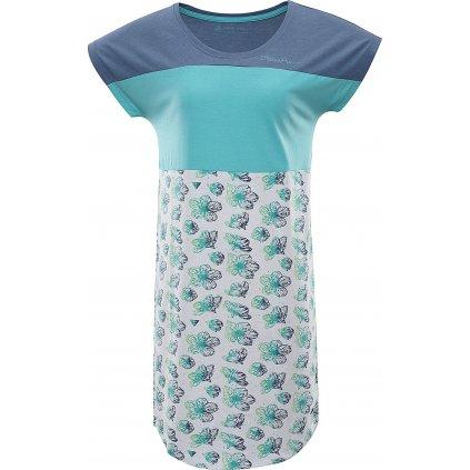Dámské šaty ALPINE PRO Cleya modré