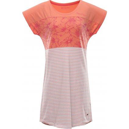 Dámské šaty ALPINE PRO Cleya oranžové