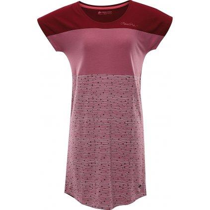 Dámské šaty ALPINE PRO Cleya červené