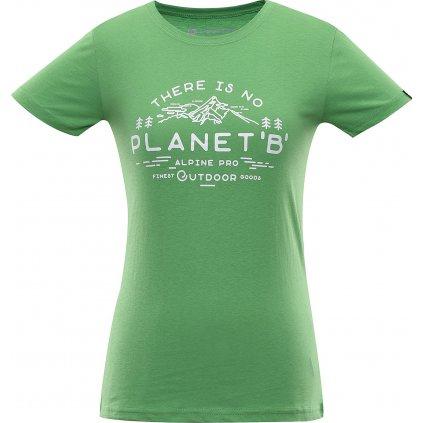 Dámské triko ALPINE PRO Ekosa zelená