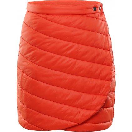 Dámská zateplená sukně ALPINE PRO Vonna oranžová