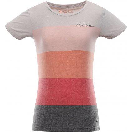 Dámské triko ALPINE PRO Milia růžová