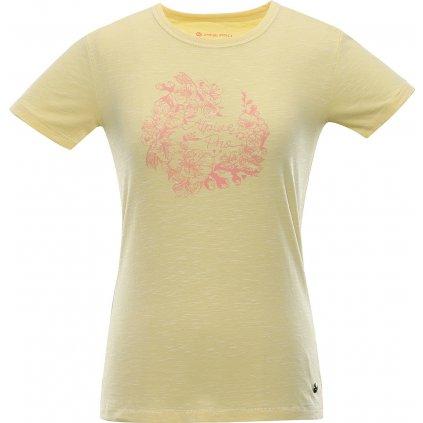 Dámské bavlněné triko ALPINE PRO Rozena 6 žlutá