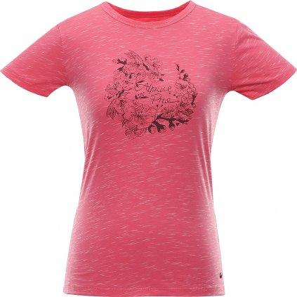 Dámské bavlněné triko ALPINE PRO Rozena 6 růžová