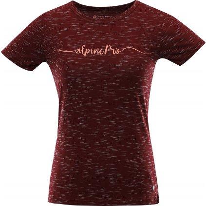 Dámské bavlněné triko ALPINE PRO Rozena 6 červená