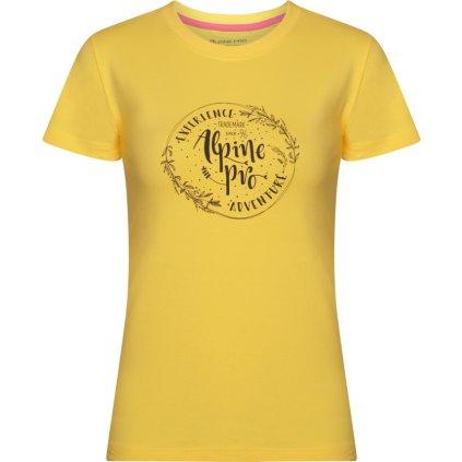 Dámské bavlněné triko ALPINE PRO Unega 7 žlutá