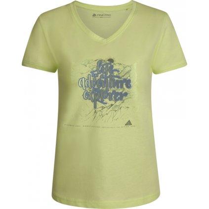 Dámské triko ALPINE PRO Laila 3 žlutá