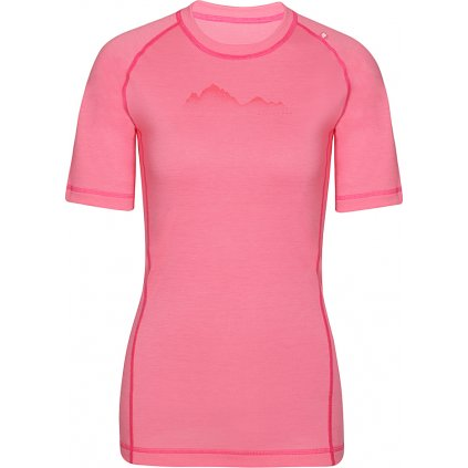 Dámské merino triko ALPINE PRO Merina růžová