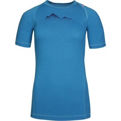 Dámské merino triko ALPINE PRO Merina modrá