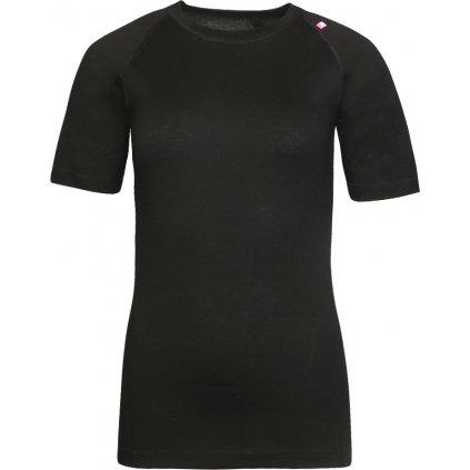 Dámské merino triko ALPINE PRO Merina černá