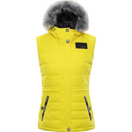 Dámská vesta ALPINE PRO Jarvisa 2 žlutá