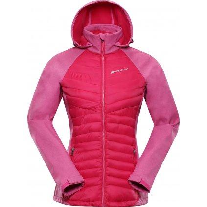 Dámská softshellová bunda ALPINE PRO Perka 2 růžová