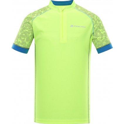 Pánský cyklo dres ALPINE PRO Soran žlutá