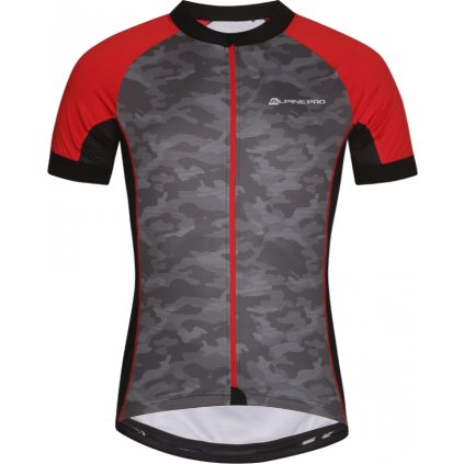 Pánský cyklo dres ALPINE PRO Mark šedá