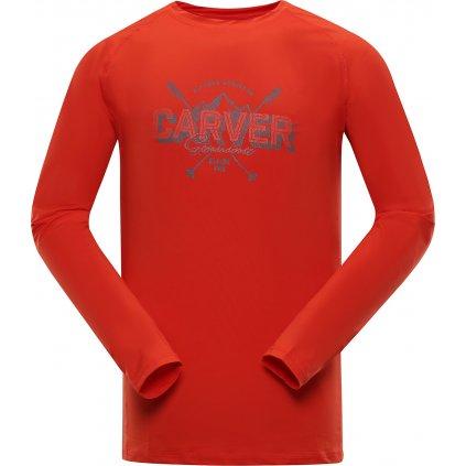 Pánské funkční triko ALPINE PRO Tar červená