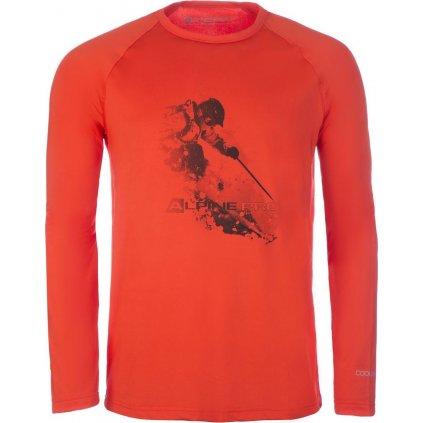 Pánské funkční triko ALPINE PRO Vald 2 červená