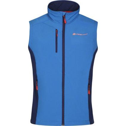 Pánská softshellová vesta ALPINE PRO Asklepios 7 modrá